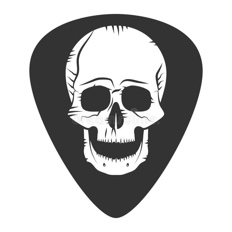 Vagga festemblemet Gitarrhacka medlare royaltyfri illustrationer