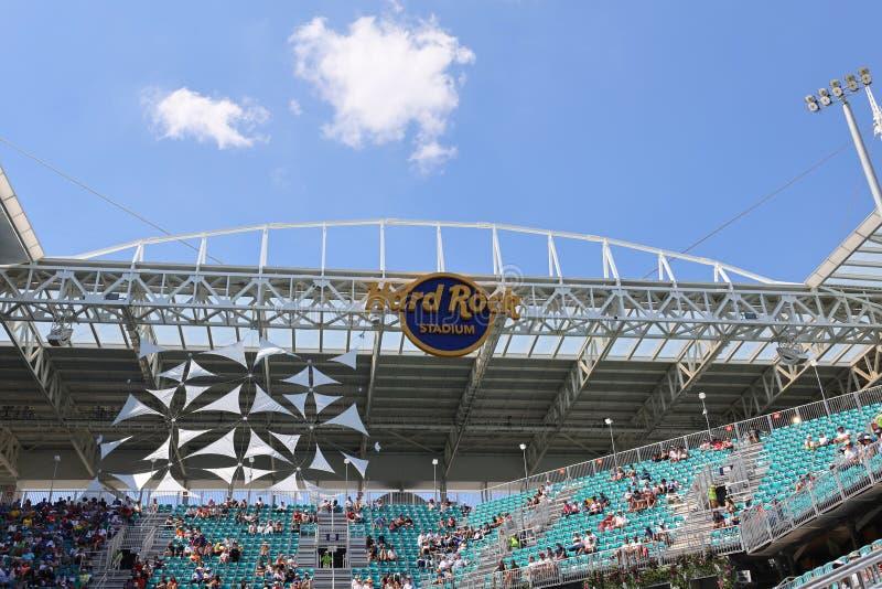 Vagga hårt stadion under 2019 Miami som är öppen i Miami trädgårdar, Florida arkivbilder