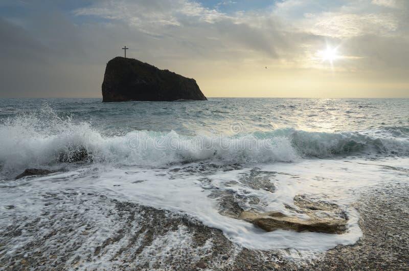 Vagga i havet royaltyfri fotografi