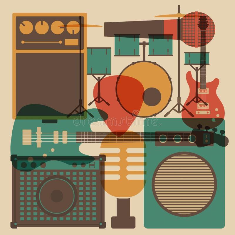 Vagga instrumentet royaltyfri illustrationer