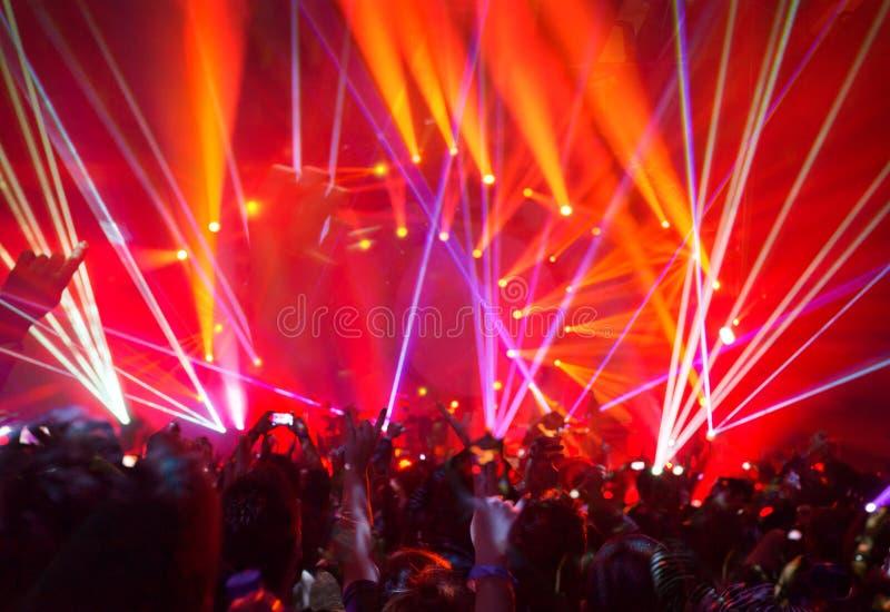 Vagga konsertbakgrund arkivbilder