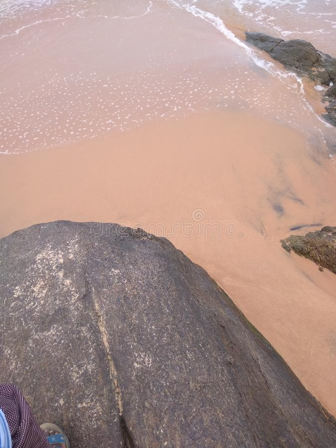 Vagga röd sand arkivfoto