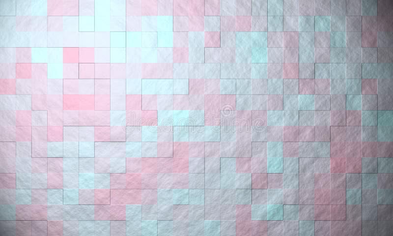 Vagga rosa färger för blått för textur för stentegelplattabusen vektor illustrationer