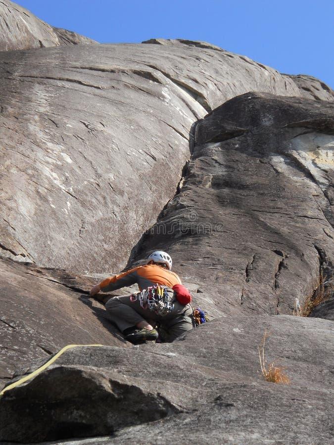 Vagga seende exponeringsglas för klättringen, North Carolina royaltyfri foto