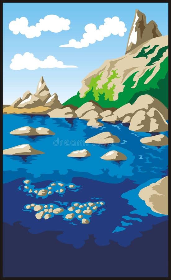 vaggar havet vektor illustrationer
