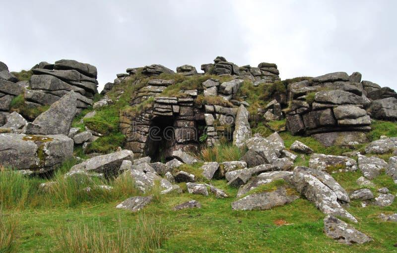 Vaggar i den Dartmoor nationalparken arkivfoton
