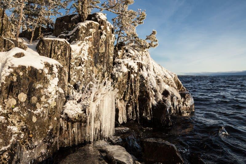 Is vaggar lakefront royaltyfria foton