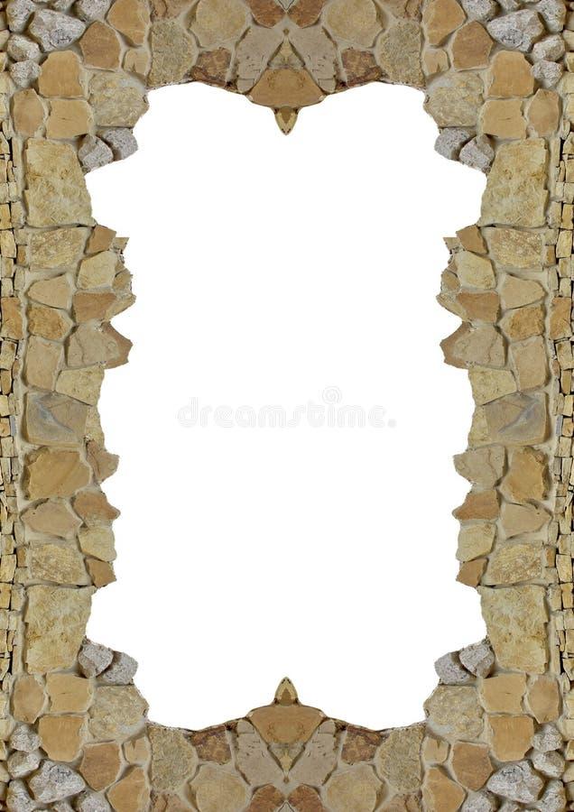 Vaggar naturliga vita isolerade stycken för fotoramdesignen stenkalkstensandsten royaltyfria foton