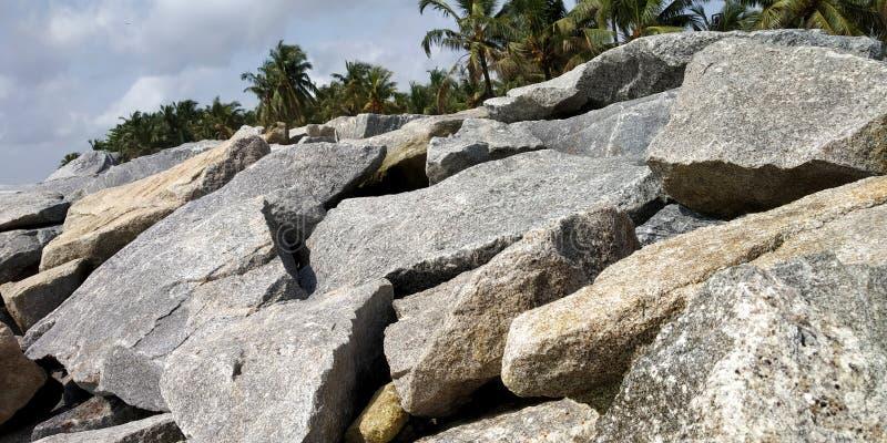 Vaggar på stranden royaltyfri foto