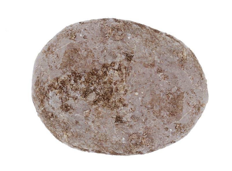 Vaggar stenen för rund form för sfären eller isolerat royaltyfri bild
