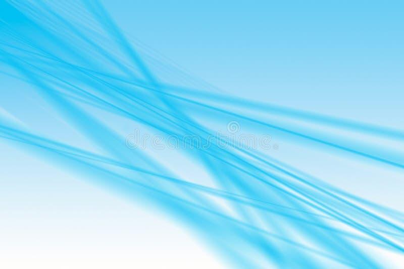 Vaghe, le linee blu di defocus gradiscono il fondo - illustrazione fotografie stock
