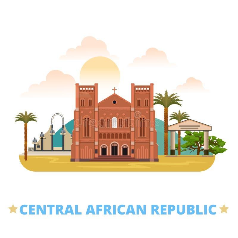 Vagn för lägenhet för Centralafrikanska republiken designmall stock illustrationer