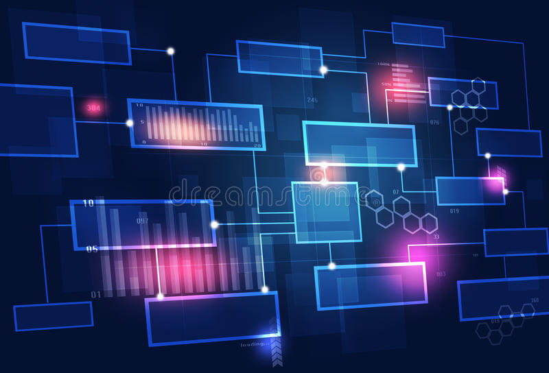 Vagn för teknologibegreppsaffär vektor illustrationer