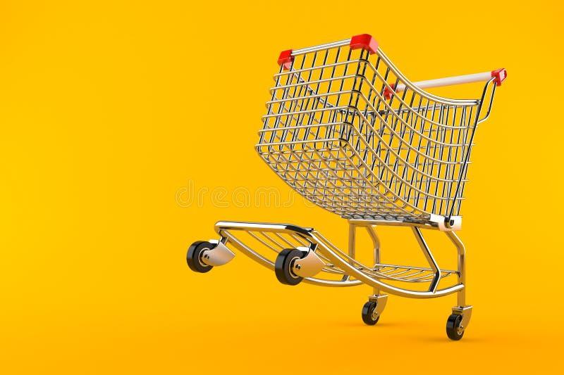 vagn frambragd shopping för bild 3d stock illustrationer