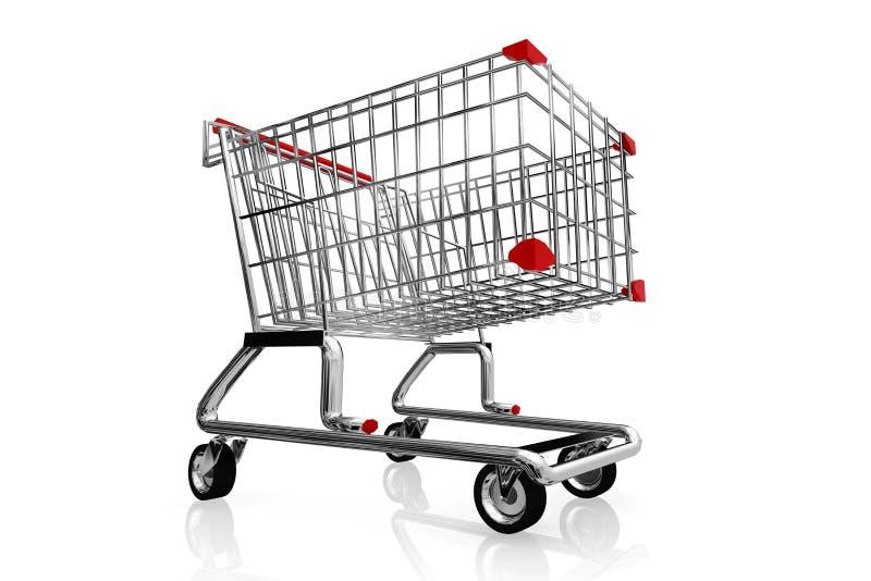 vagn frambragd shopping för bild 3d vektor illustrationer