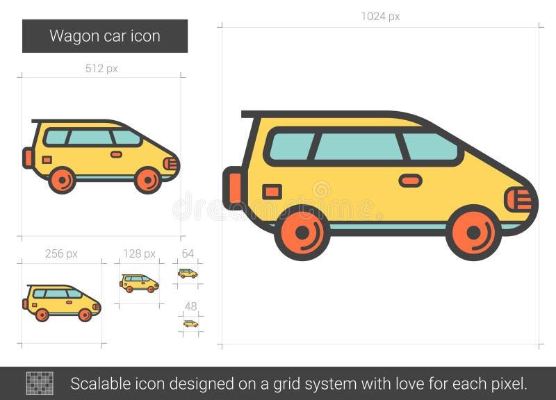 Vagnbillinje symbol vektor illustrationer
