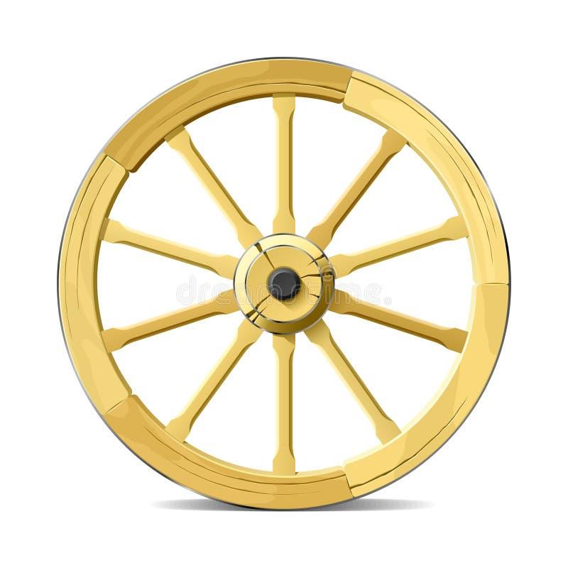 vagnhjul stock illustrationer