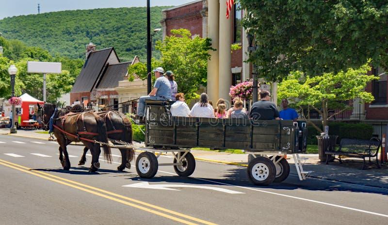 Vagnritt i Clifton Forge, Virginia, USA royaltyfria bilder
