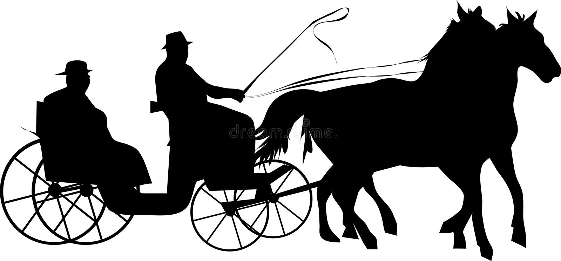 vagnshäst royaltyfri illustrationer