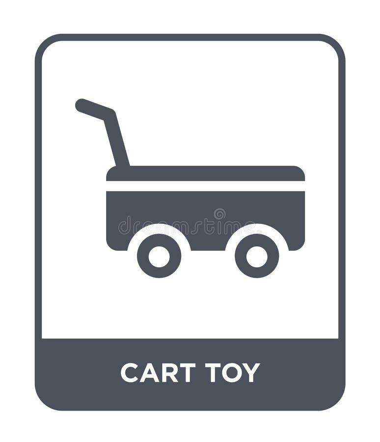 vagnsleksaksymbol i moderiktig designstil vagnsleksaksymbol som isoleras på vit bakgrund lägenhet för symbol för vagnsleksakvekto royaltyfri illustrationer