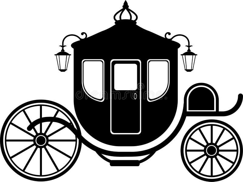 vagnssilhouette royaltyfri illustrationer