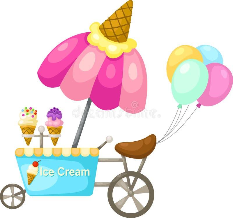 Vagnsstall och en glass royaltyfri illustrationer