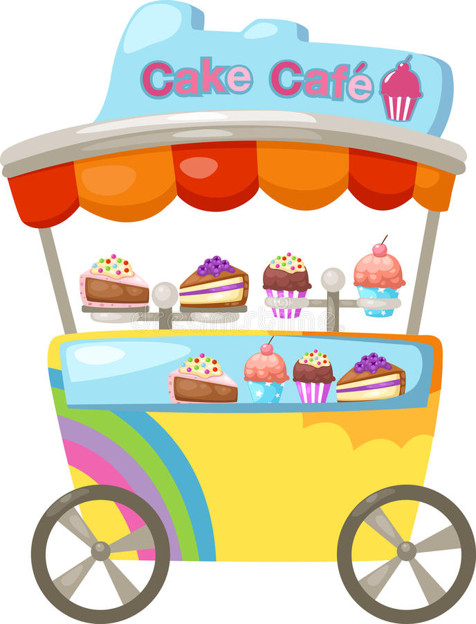Vagnsstall och en muffin royaltyfri illustrationer