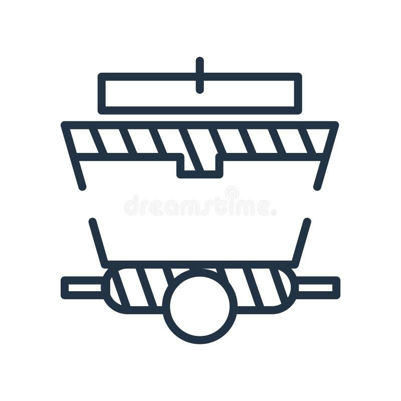 Vagnsymbolsvektor som isoleras på vit bakgrund, vagntecken vektor illustrationer