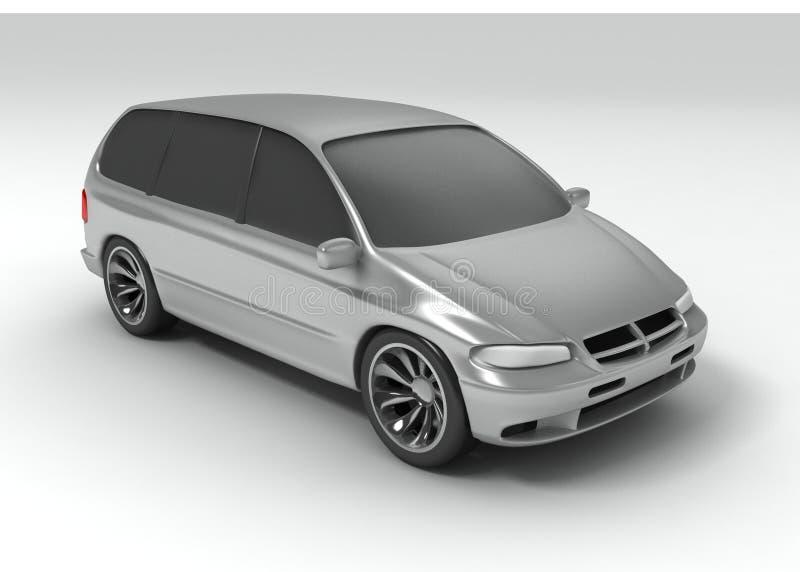 vagon argenté de véhicule illustration stock
