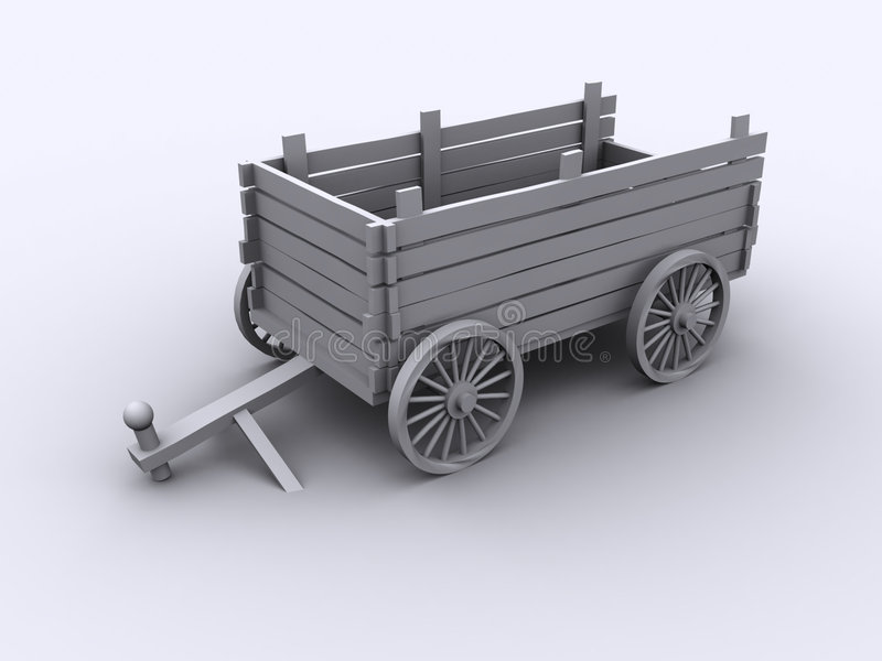 Download Vagone antiquato illustrazione di stock. Illustrazione di cereale - 103961