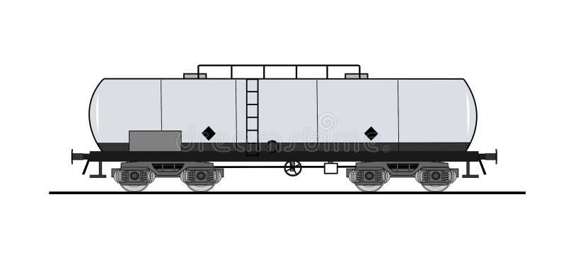 Vagone di serbatoio illustrazione di stock