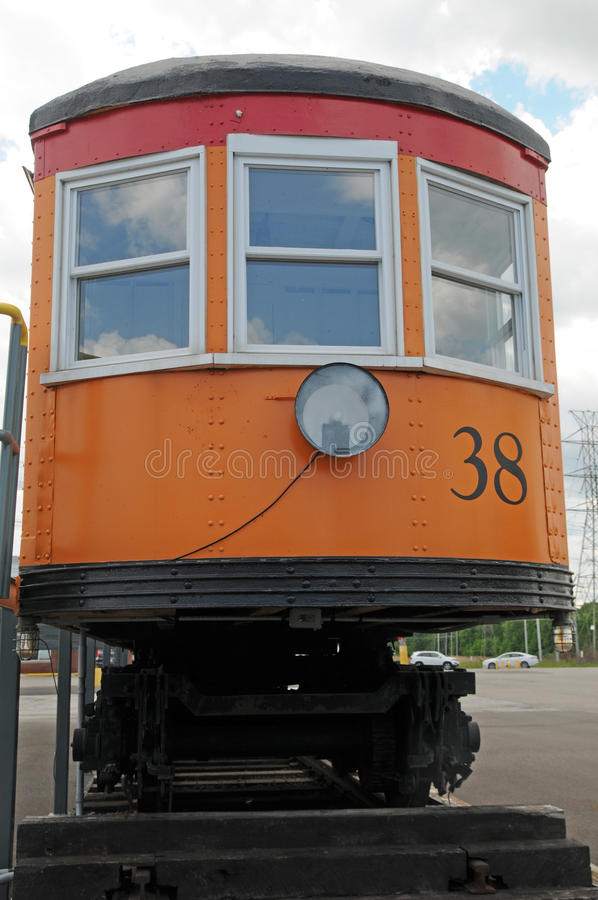 Vagone Lakeshore dalla ferrovia elettrica immagini stock