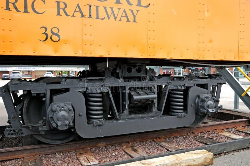 Vagone Lakeshore dalla ferrovia elettrica fotografia stock libera da diritti