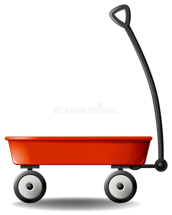 Vagone rosso illustrazione di stock