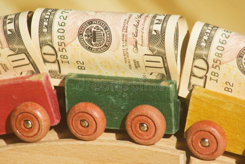 Vagoni dei soldi immagini stock