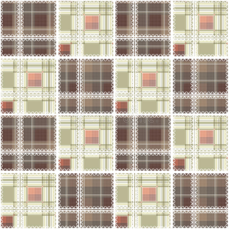 Vagos a cuadros del modelo del diseño de la materia textil de la tela escocesa del cordón inconsútil abstracto libre illustration