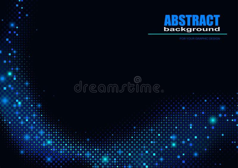 Vague bleue de Pixelated illustration libre de droits