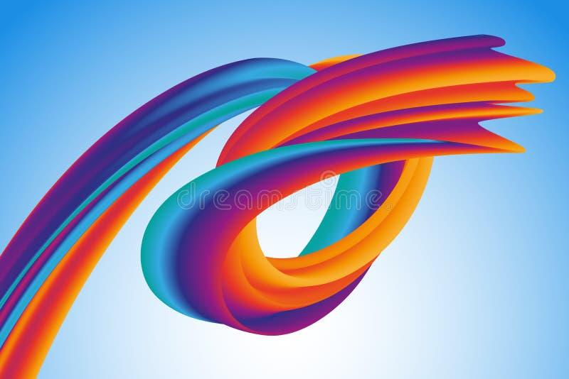 Vague colorée moderne d'écoulement Forme liquide de vecteur Conception d'art pour votre designÑŽ illustration de vecteur