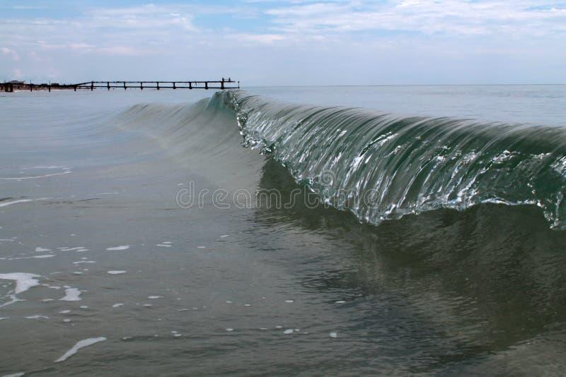 Vague congelée de mer photo stock