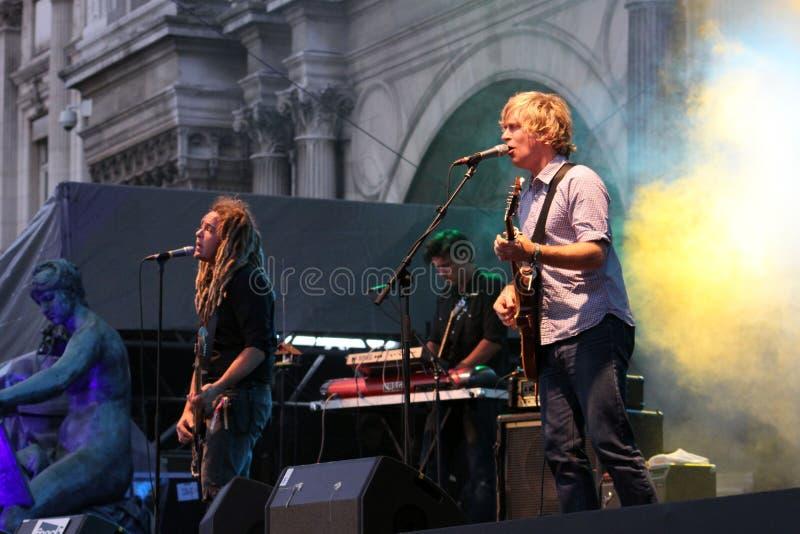 Vague déferlante de Nada, concert à Paris photo stock