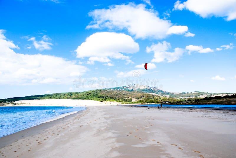 vague déferlante du Portugal de cerf-volant image libre de droits