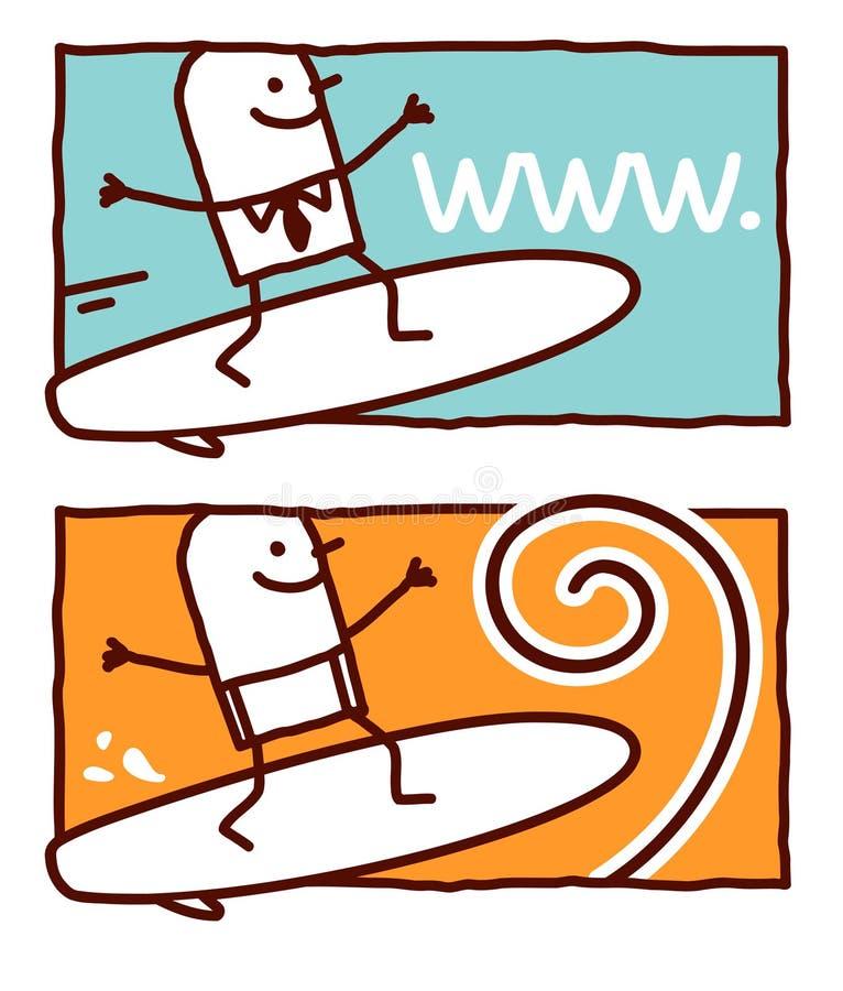 Vague déferlante sur le Web ou l'onde illustration de vecteur