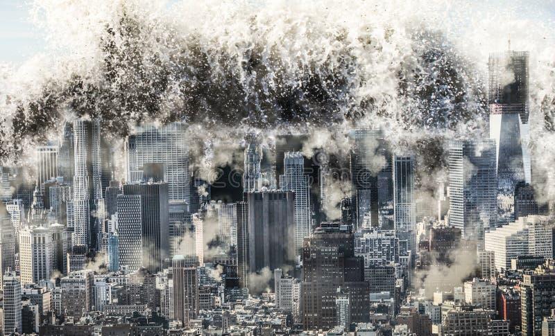 Vague de catastrophe naturelle images libres de droits