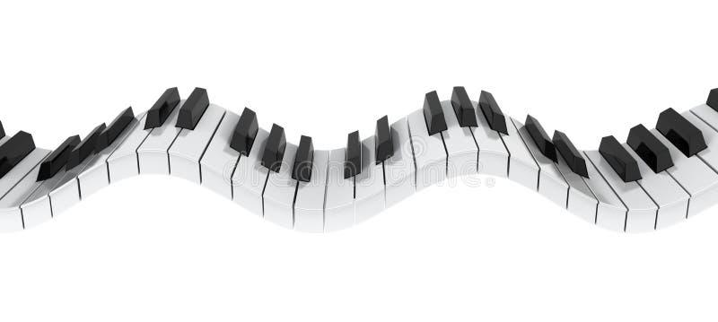 Vague de clavier de piano illustration stock illustration for Apri le foto del piano
