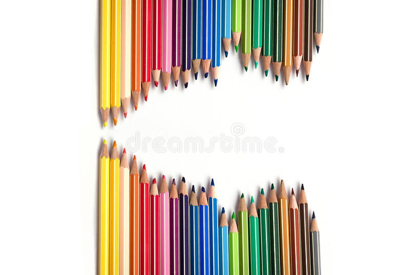Vague de crayons photos stock
