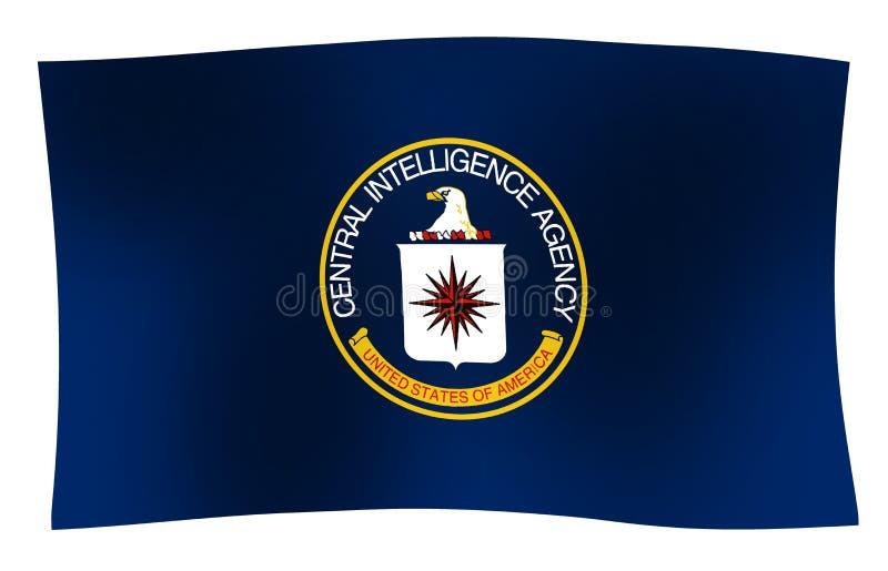 Vague de drapeau de CIA illustration stock