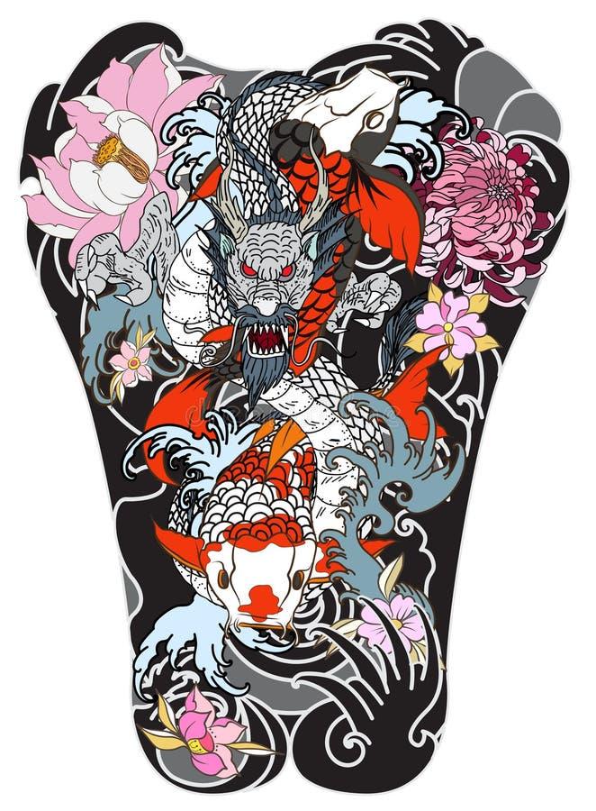 vague de japonais pour le tatouage poissons tir s par la. Black Bedroom Furniture Sets. Home Design Ideas