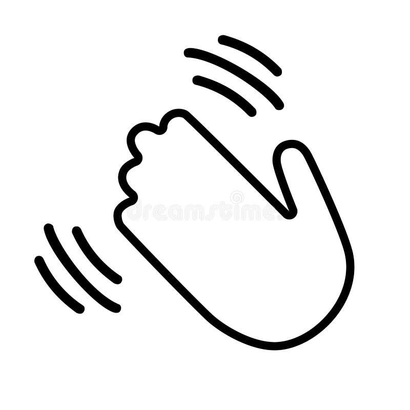 Vague de main salut ou bonjour illustration libre de droits