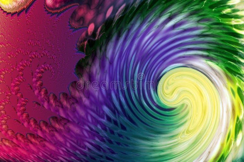 Vague en spirale abstraite illustration stock