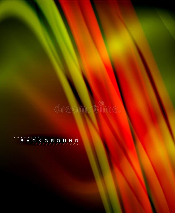 Vague liquide olographe au néon de couleur pour le Web, le papier peint, le modèle, la texture et le fond illustration stock